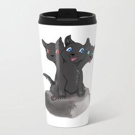 Cerberus puppy Metal Travel Mug