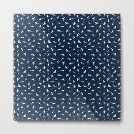Silky Sharks Pattern Metal Print