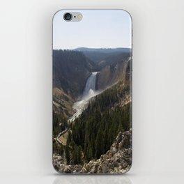 lower falls, grand canyon of yellowstone iPhone Skin