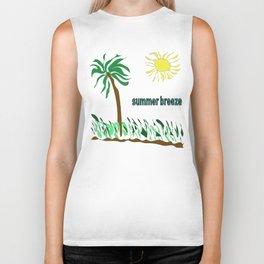 summer breeze minimal sketch Biker Tank