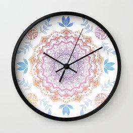 BOHO HAMSA MANDALA Wall Clock