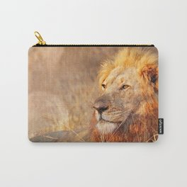 Lion in the warm sunlight of South Africa Carry-All Pouch