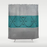 sharks Shower Curtains featuring Sharks by Last Call