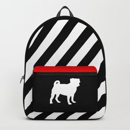 Simple Pug Silhouette Backpack