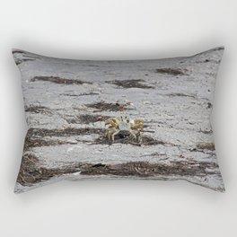 Competing Crabs Rectangular Pillow