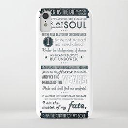 Typographic design - Invictus iPhone Case
