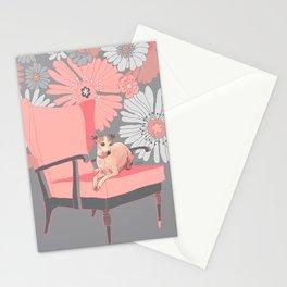 Dog in a chair #3 Italian Greyhound Stationery Cards