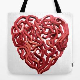 Graffiti Heart Red Tote Bag