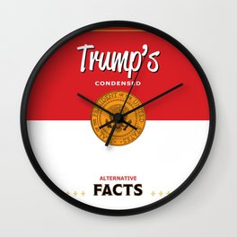 Trump's Alternative Facts Soup Wall Clock