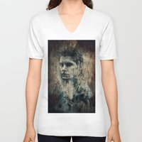 dean winchester V-neck T-shirts featuring Dean Winchester by Sirenphotos