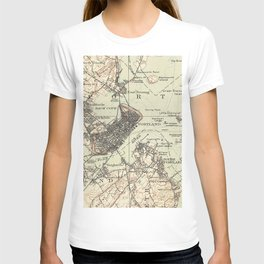 Vintage Map of Portland Maine (1914) T-shirt
