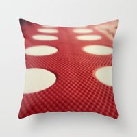 polka dot Throw Pillows featuring Polka dot by Losal Jsk