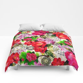 Flowers with Lace and Dots Comforters