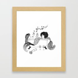 Broad City Mermaid Fan Art Framed Art Print