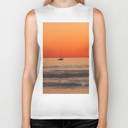 Indian Summer Sunset by Aloha Kea Photography Biker Tank