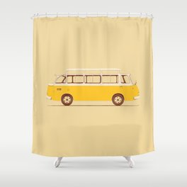 Yellow Van II Shower Curtain