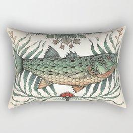 Striper in the Weeds Rectangular Pillow