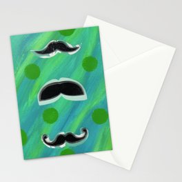 Mustaches and Polka Dots Stationery Cards