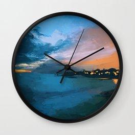 Laguna Beach At Night Wall Clock