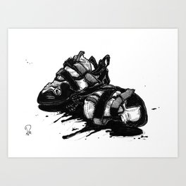 A DIFFERENT KETTLE OF FISH Art Print