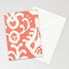 Ikat in coral  Stationery Cards