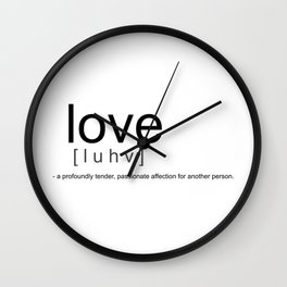 Definition of Love Wall Clock