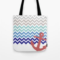 nautical Tote Bags featuring Nautical  by emain