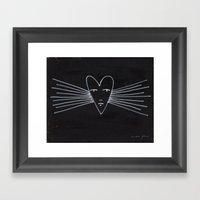 radiant heart Framed Art Print