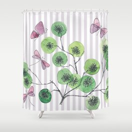 a touch of summer  with stripes Shower Curtain