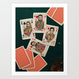 Lily, Rosemary and The Jack of Hearts - Bob Dylan Art Print