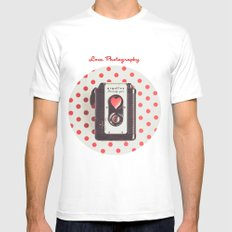 Love Photography Mens Fitted Tee White MEDIUM