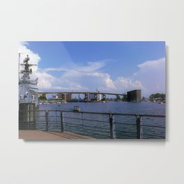 Canalside Metal Print