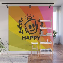 International Day of HAPPINESS Wall Mural