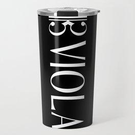 Viola with Alto Clef Travel Mug