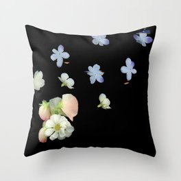 Sweet Pea, Daisy, Hydrangea Glitch Throw Pillow