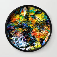 underwater Wall Clocks featuring Underwater by Klara Acel
