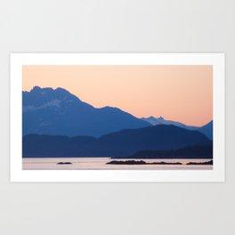 Cool Mountains & Warm Skys Art Print