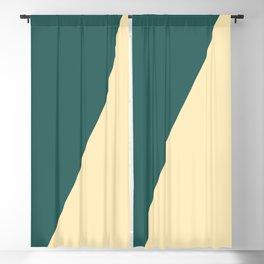 Half a Green Blackout Curtain