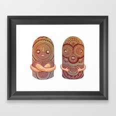 Totems Framed Art Print