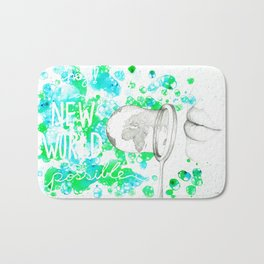 A New World is Possible Bath Mat