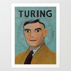 Alan Turing Art Print