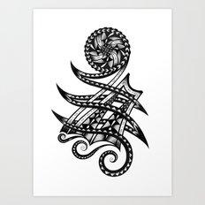 Shoulder Band Tattoo Art Print