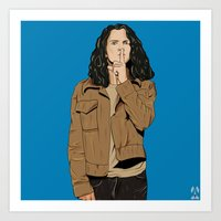 eddie vedder Art Prints featuring Eddie by Rhys Barney