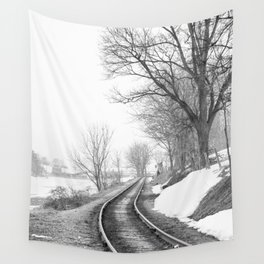 Down the line Wall Tapestry