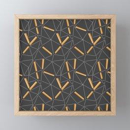 Yellow Prisma Framed Mini Art Print