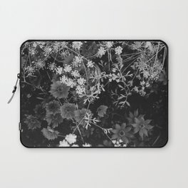 The Flowers (Black and White) Laptop Sleeve
