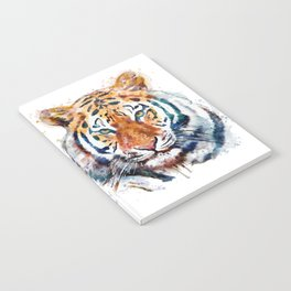 Tiger Head watercolor Notebook