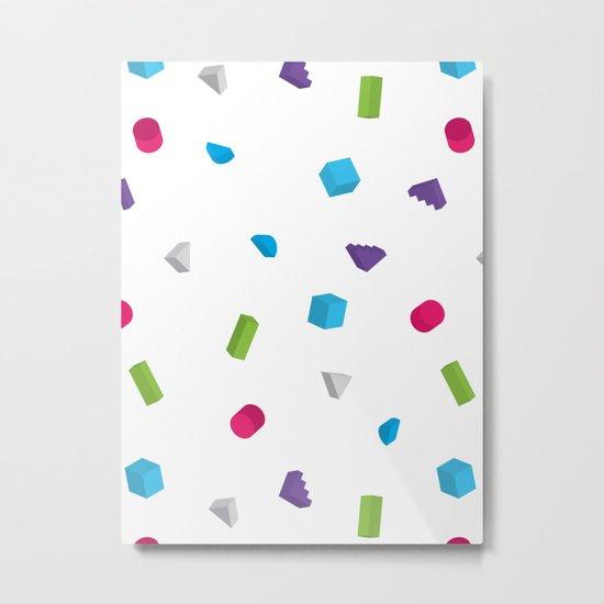 Confetti Metal Print