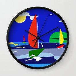 summer sail Wall Clock