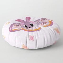 Marbled Emperor Moth Floor Pillow